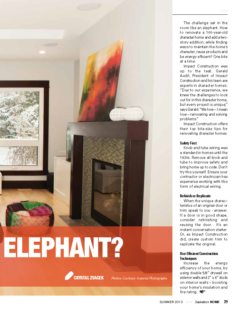 Media Impact Construction Commercial Residential General Contractor Knob And Tube Wiring Safety Saskatoon Home Magazine
